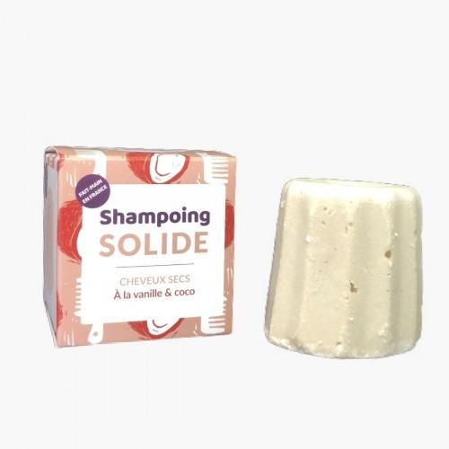 Shampoing solide cheveux secs vanille coco Lamazuna
