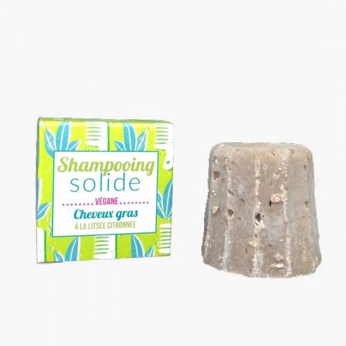 Shampoing solide cheveux gras litsée citronnée Lamazuna