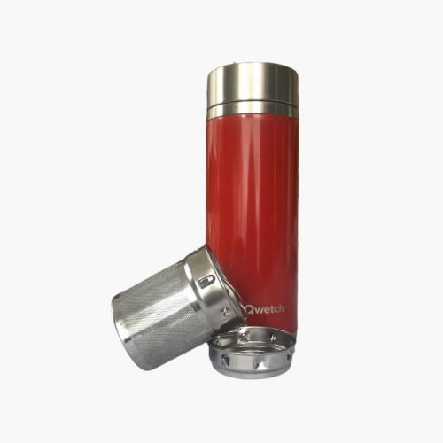 Théière Rouge brillant 300mL Qwetch filtre