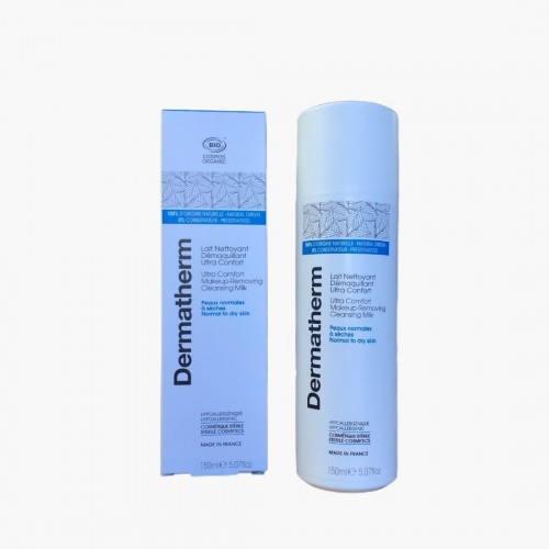 Lait nettoyant démaquillant ultra confort Dermatherm 150ml