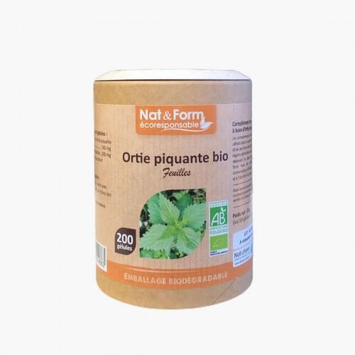 Ortie piquante feuilles BIO 200 gélules nat&form