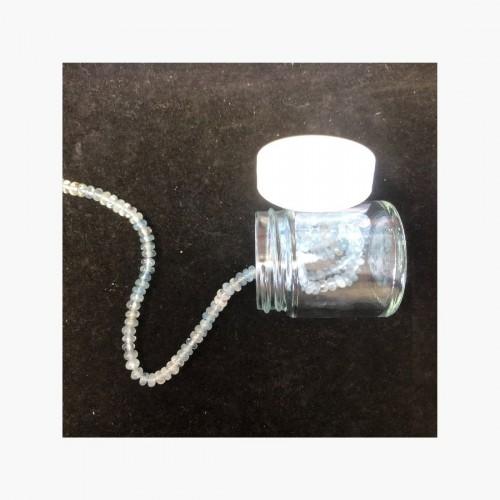 Perles Aigue marine - Rondelle 3 x 5 mm