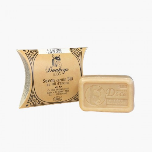 Savon exfoliant Avoine - Lait d'ânesse Donkeys & Co