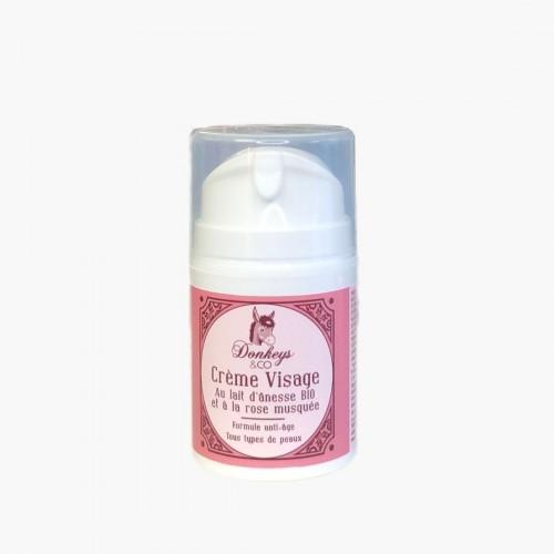 Crème visage Rose Musquée - Lait d'ânesse Donkeys & Co