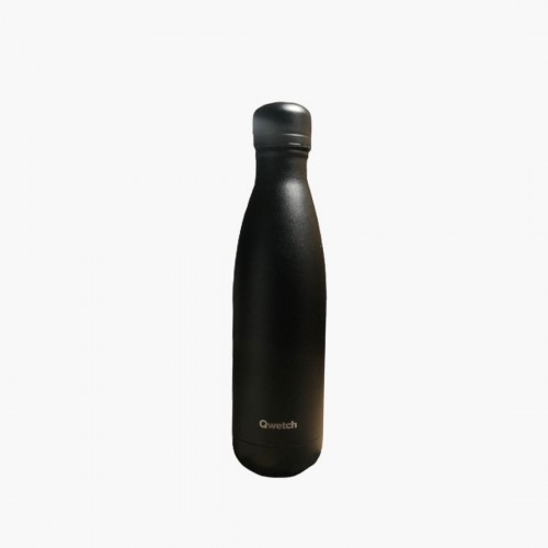 All black 500ml Qwetch bouteille isotherme