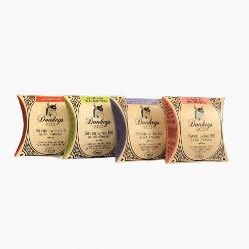 Pack de 4 savons au lait d'ânesse Donkeys & Co