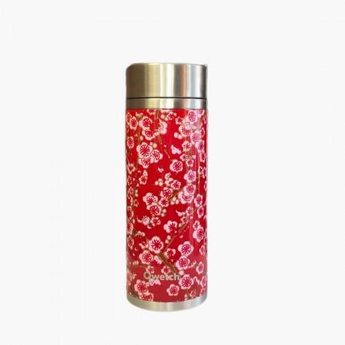 Théière isotherme flowers rouge 300ml Qwetch