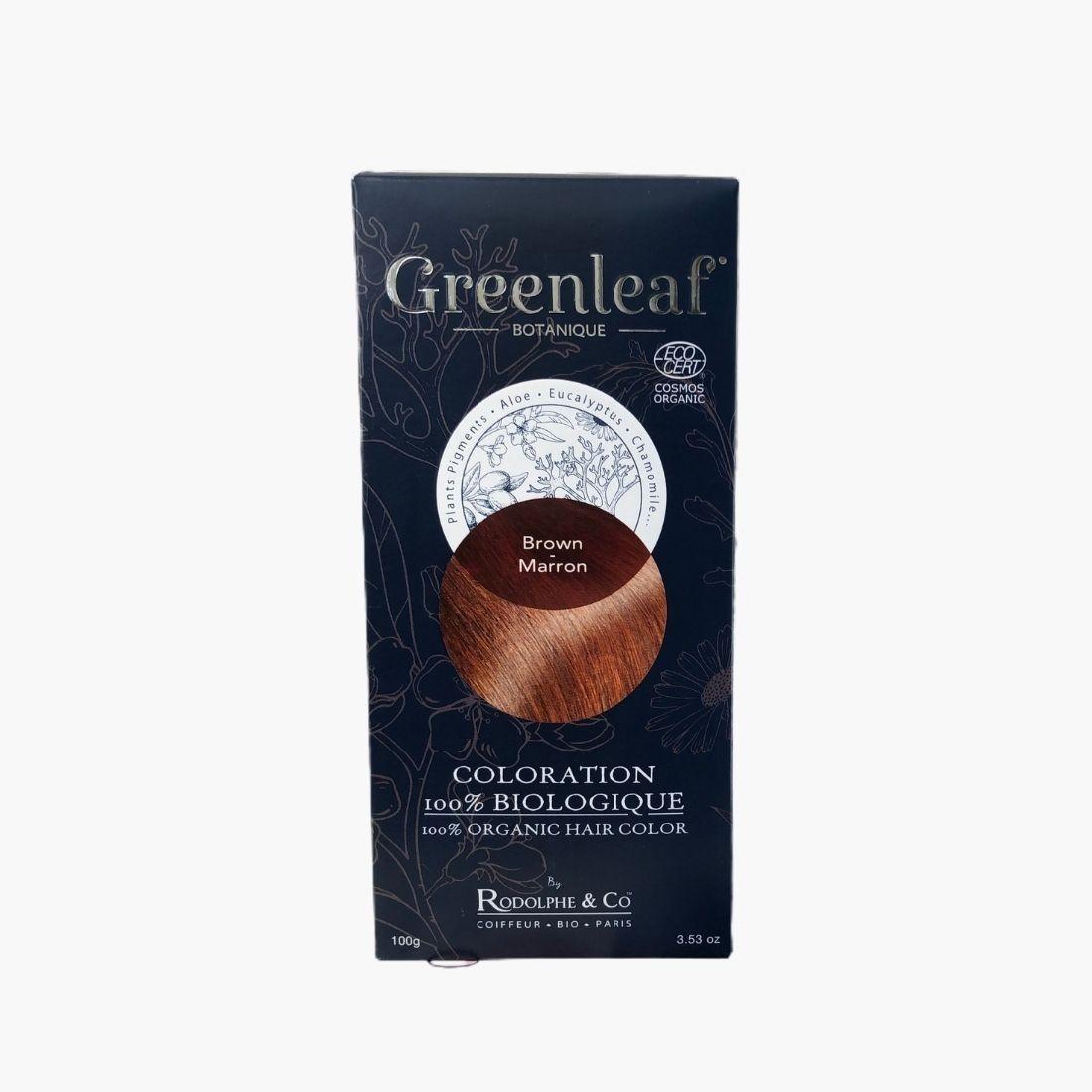 Coloration végétale BIO - Brown / Marron Greenleaf botanique
