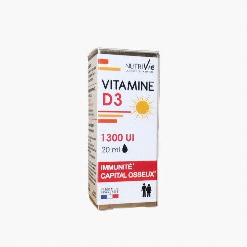 Vitamine D3 1300 UI (gouttes) Nutrivie