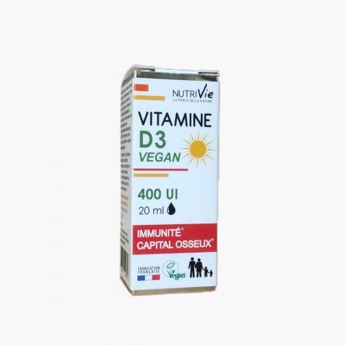 Vitamine D3 400 UI (gouttes) Nutrivie