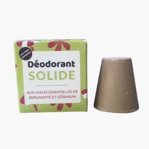 Déodorant solide aux huiles essentielles de bergamote et de géranium - Lamazuna