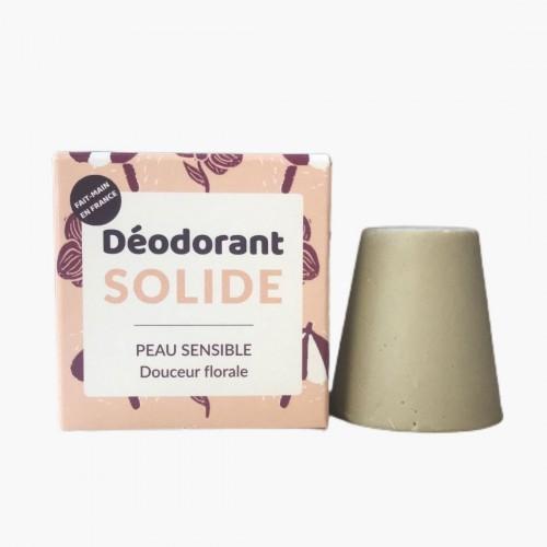 Déodorant solide douceur florale peaux sensibles Lamazuna