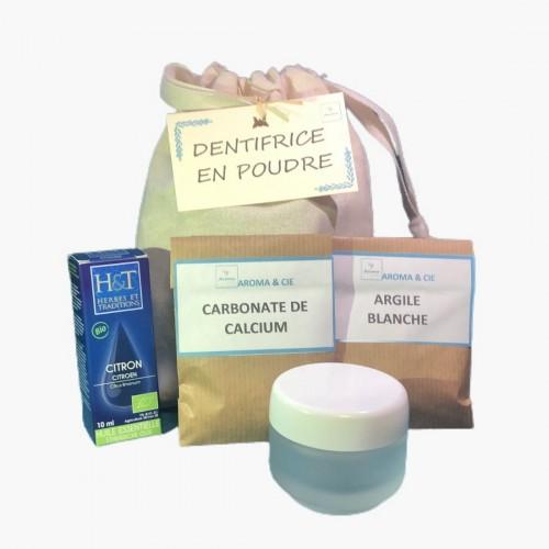 Kit dentifrice en poudre x3 Aroma & Cie