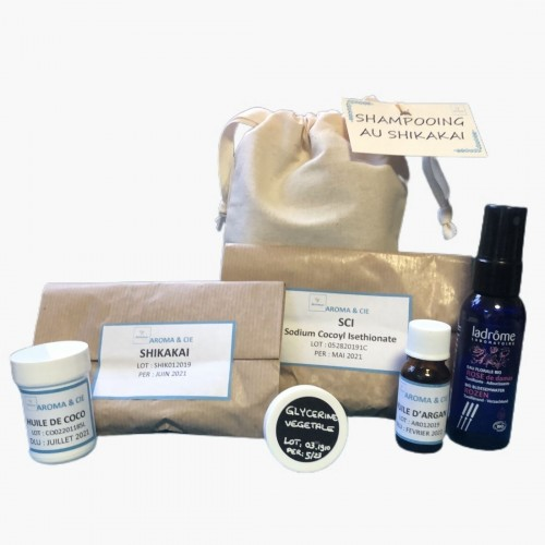 Kit shampoing solide aux plantes ayurvédiques Aroma & Cie